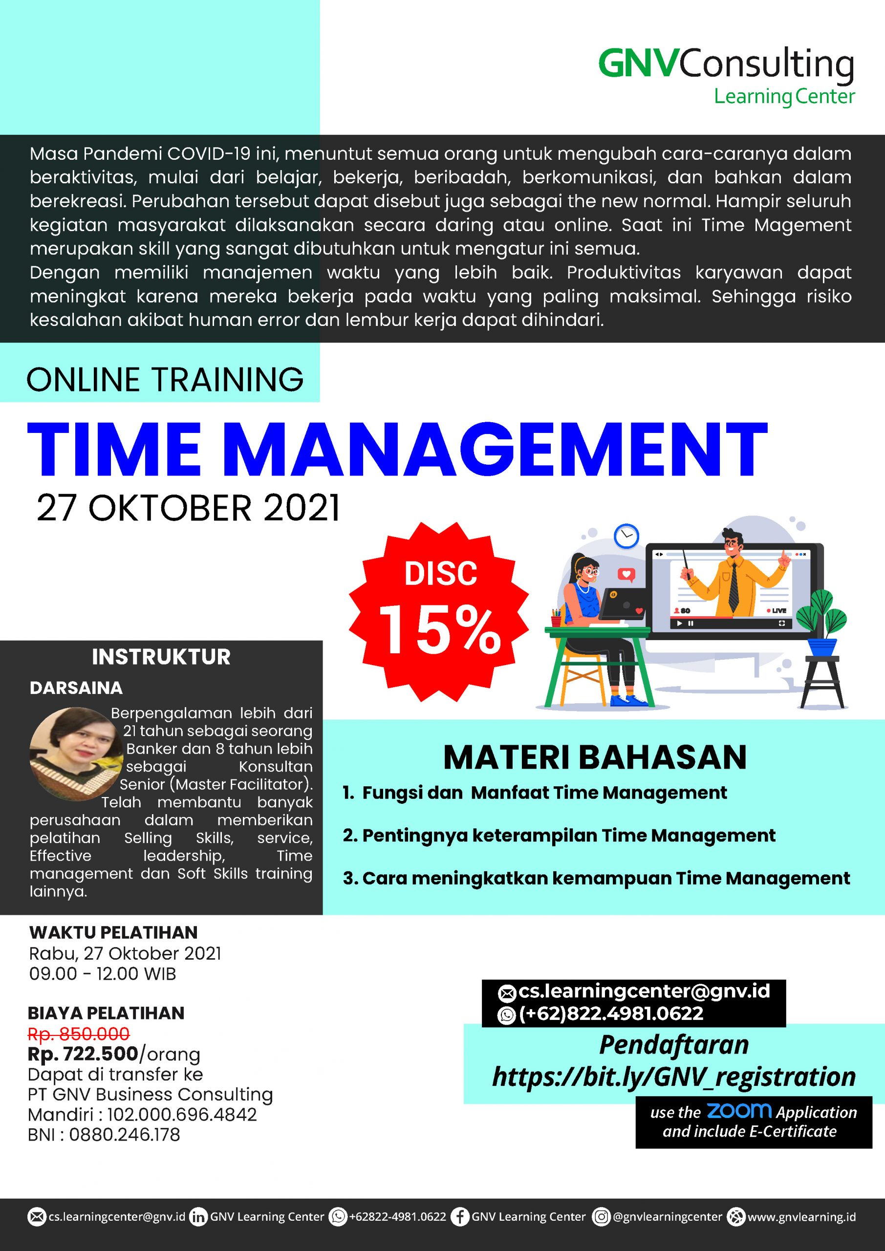 Time Management – Online Training