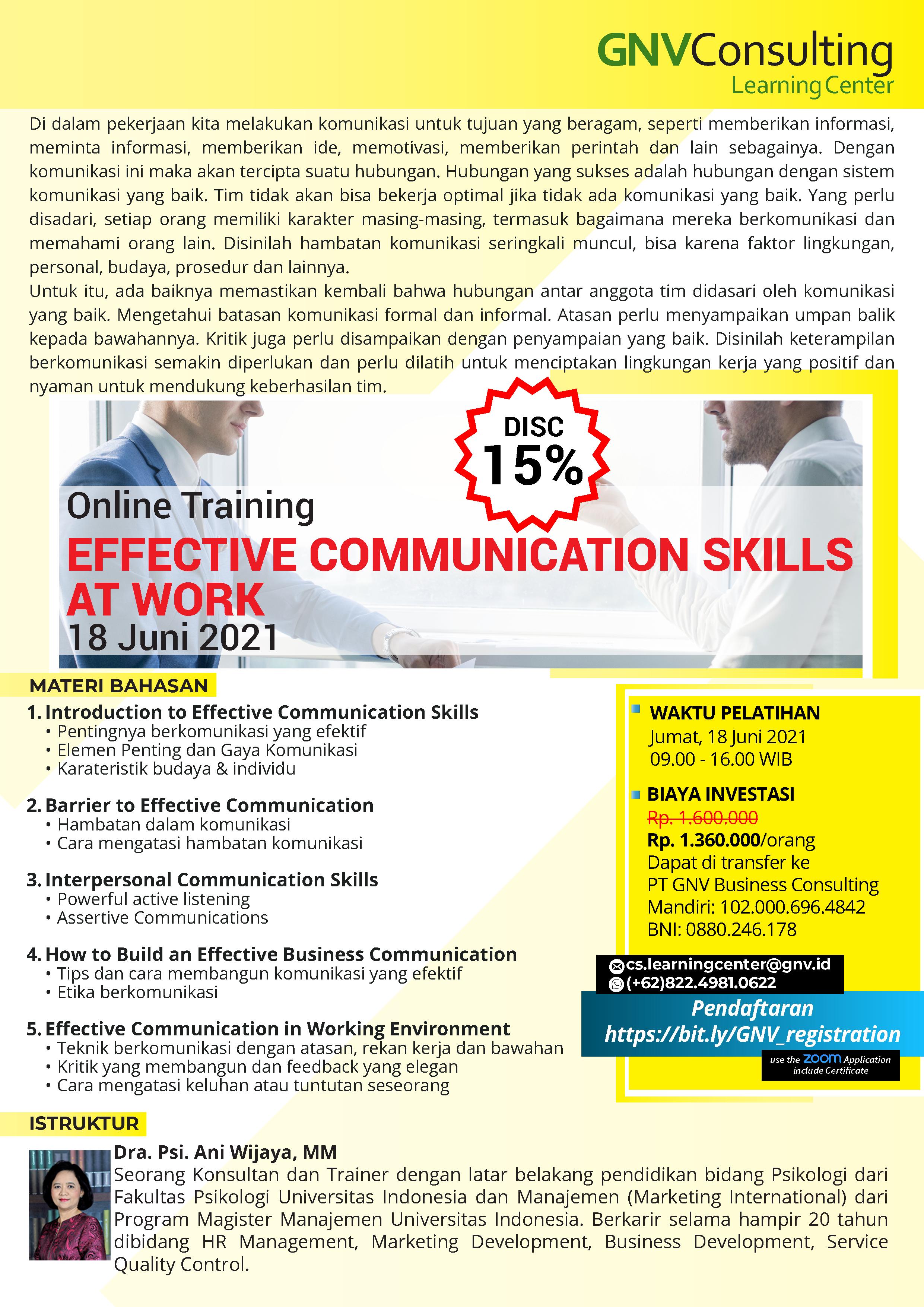 Effective Communication Skills at Work – Online Training