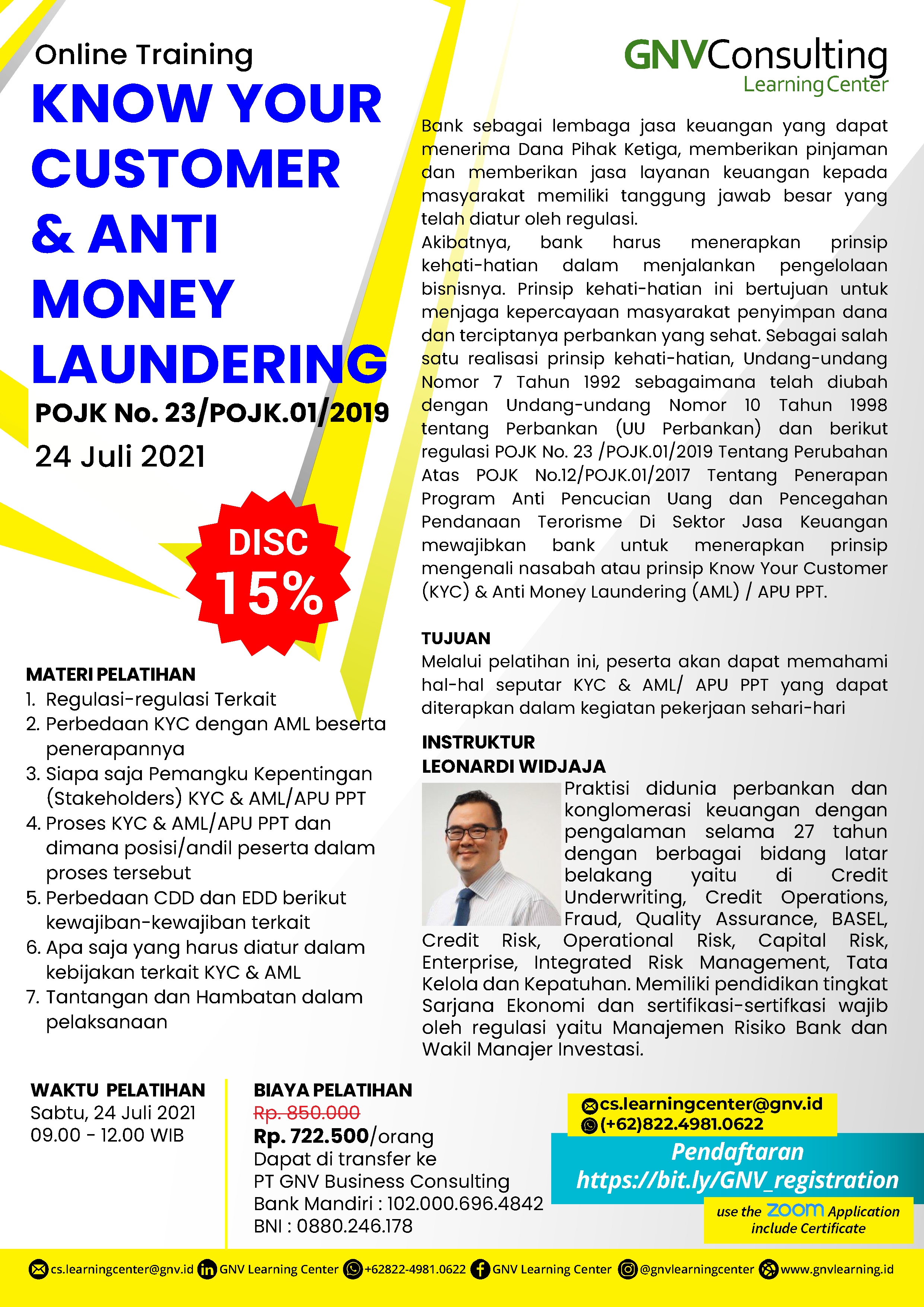 Know Your Customer & Anti Money Laundering – Online Training
